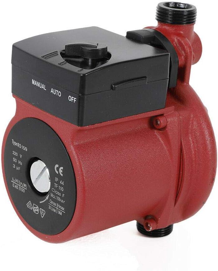 Bomba de circulaci/ón para calefacci/ón 220 V, 100 W, NPT 3//4 145 psi
