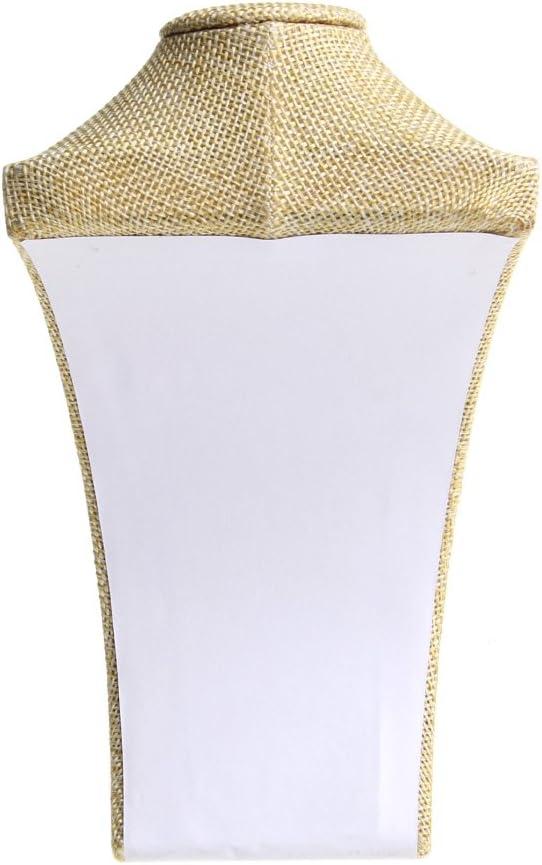 buste mannequin en lin Wanfor Pr/ésentoir /à bijoux support de pr/ésentation pour collier et pendentif