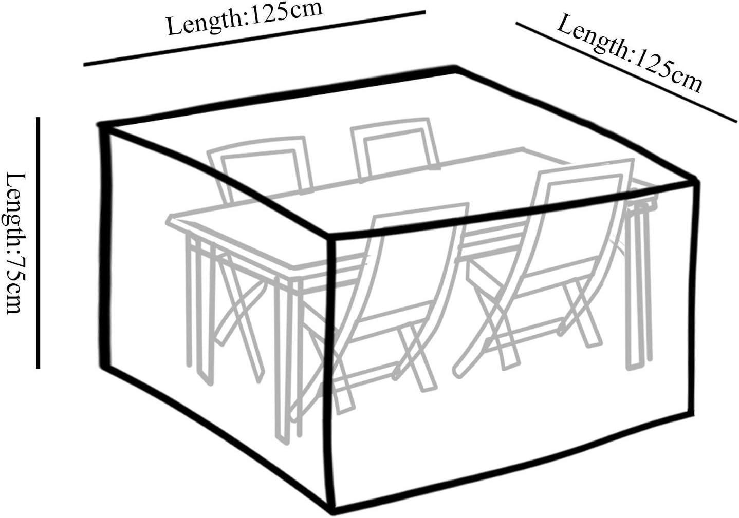 TEPSMIGO Telo Impermeabile Protezione per Esterni da Esterni Resistente ai Lavori Pesanti 125 x 125 x 75cm Telo Telo Copritutto