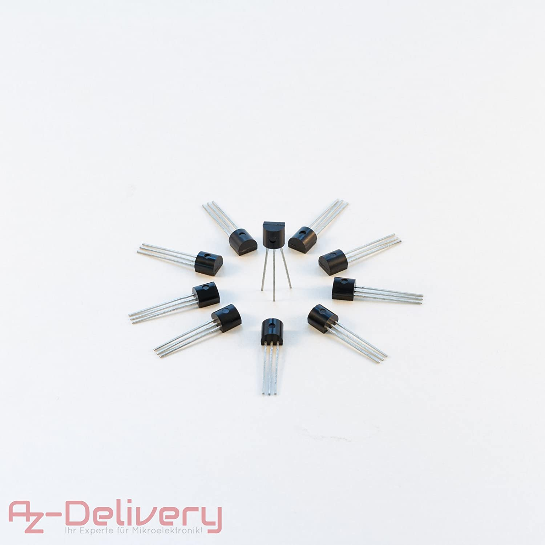 AZDelivery ⭐⭐⭐⭐⭐ 5 x 3m Cable DS18B20 Sensor de Temperatura Digital de Acero Inoxidable Sensor de Temperatura Resistente al Agua para Arduino y Raspberry Pi con ebook Gratis!