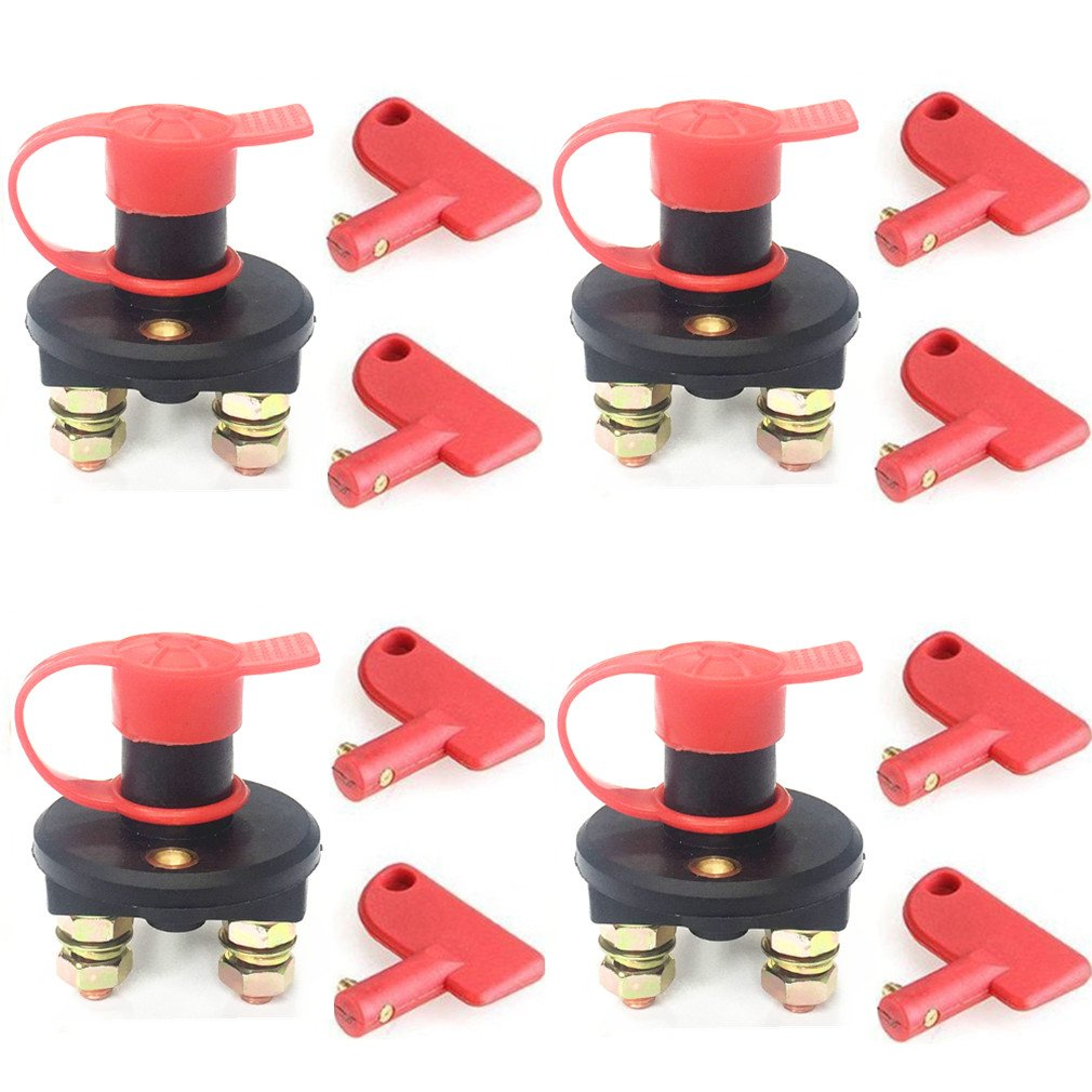 Qiorange Car Battery Isolator Disconnect Cut OFF Power Kill Switch Pack of 4 by Qiorange
