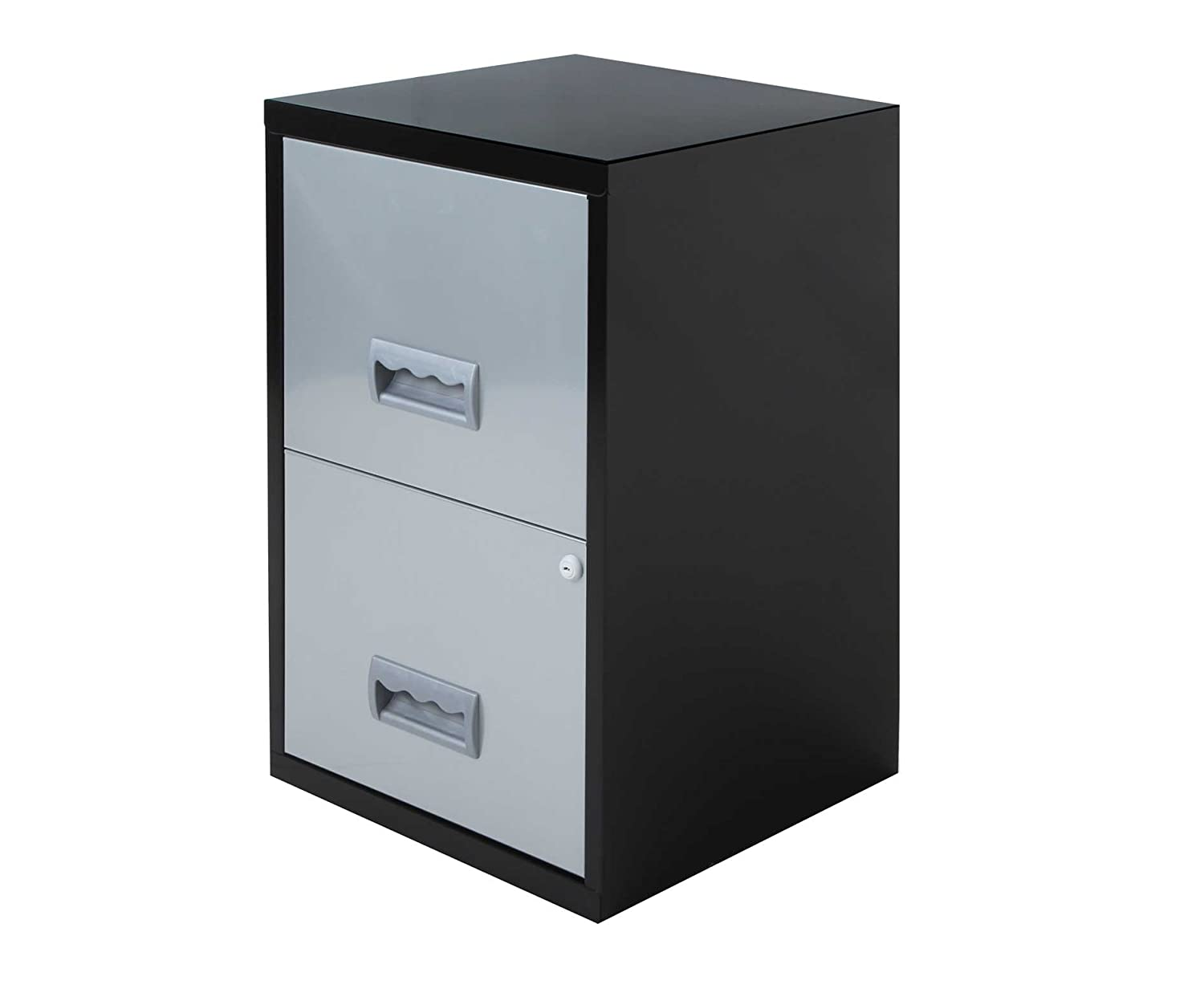 Pierre Henry 2 Drawer Maxi Filing Cabinet A4 - Color: Black/Silver 3219090950288