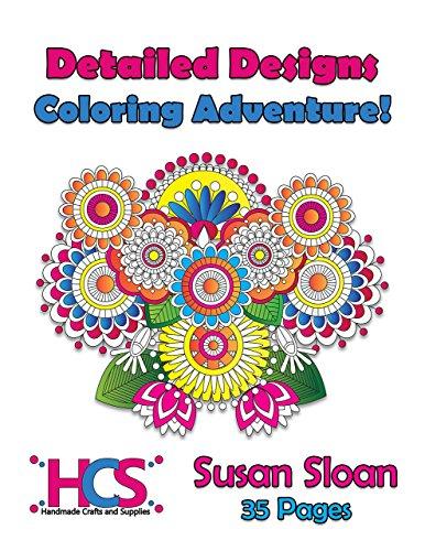 Detailed Designs Coloring Adventure! - Spiral Bound