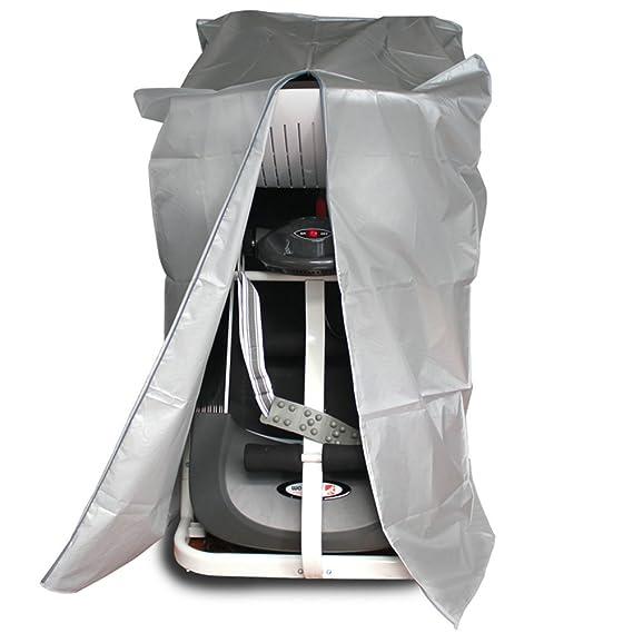 Tapa de la rueda de ardilla, egymcom 190T Cubierta impermeable con la cremallera Proteja su rueda de ardilla del polvo y del moho (los 75cm * 96cm * 160cm): ...