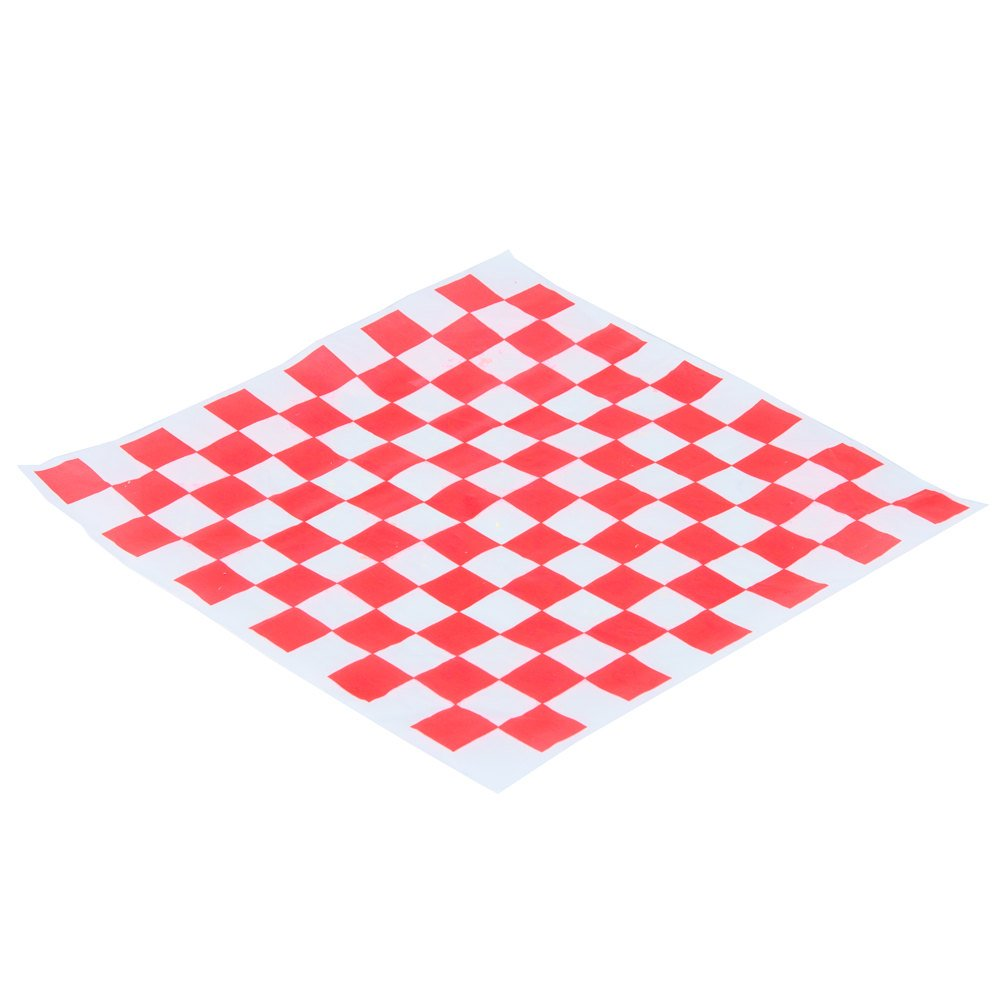 Tabletop king 12'' x 12'' Red Check Deli Sandwich Wrap Paper - 5000/Case