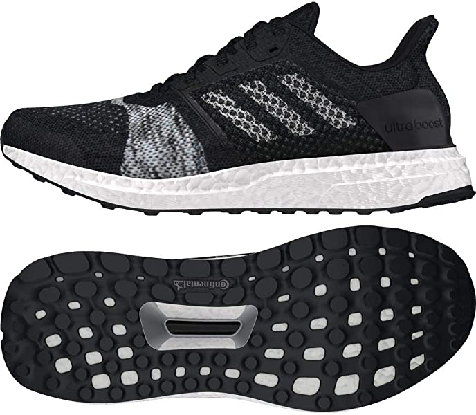 Ultra Boost ST Mens Running Trainer Shoe BlackWhite