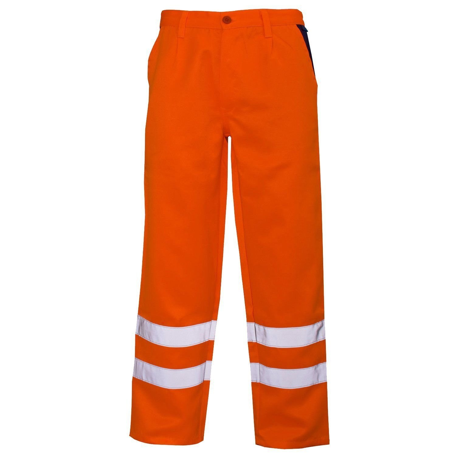 RIDDLED WITH STYLE Hi Viz Visibility Work Wear Cargo Railway Highway Trousers Pants