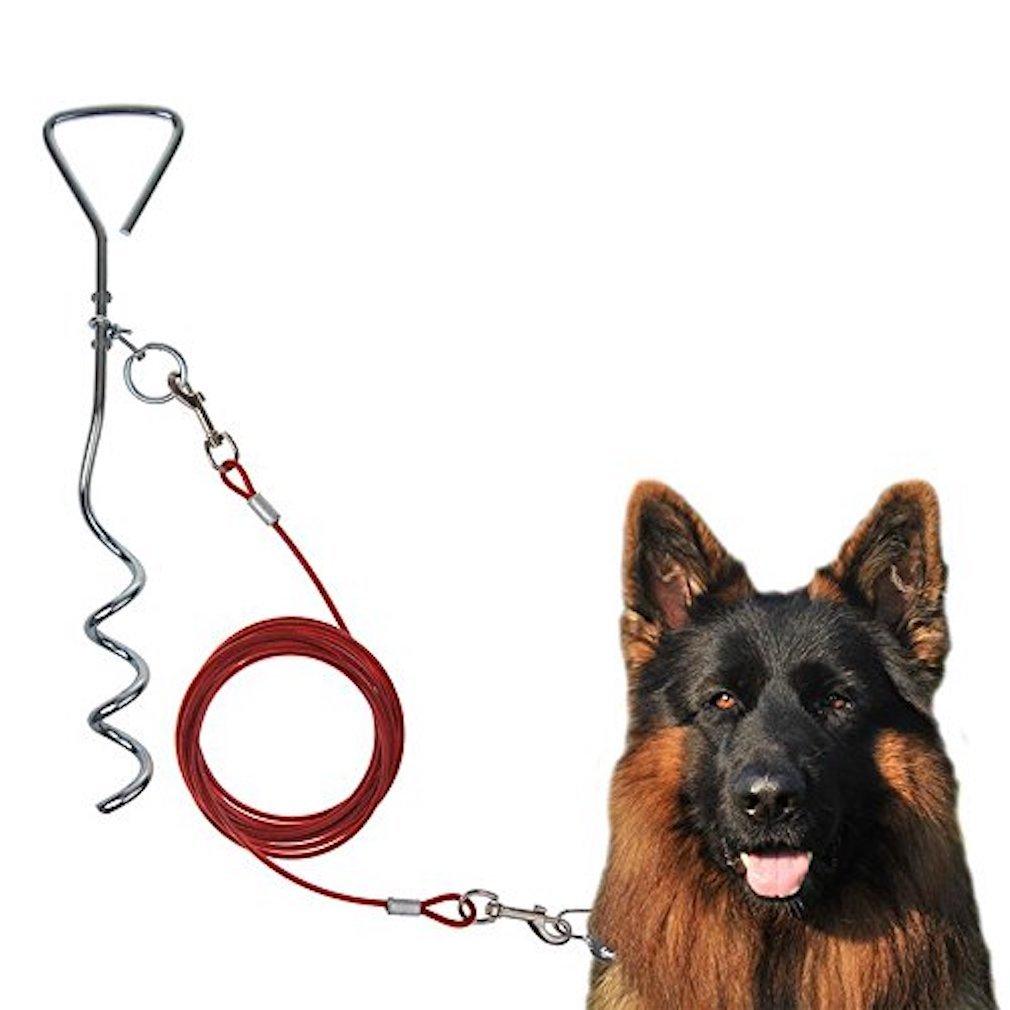 Spiralhering Erdanker mit Drehring Trampolinfixierung auch für Hundeleinen (1 Hering) timtina 018-ACC1029