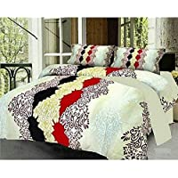 Choice homes Glace Cotton Double Bedsheets with Pillow Cover (Full Size, White)