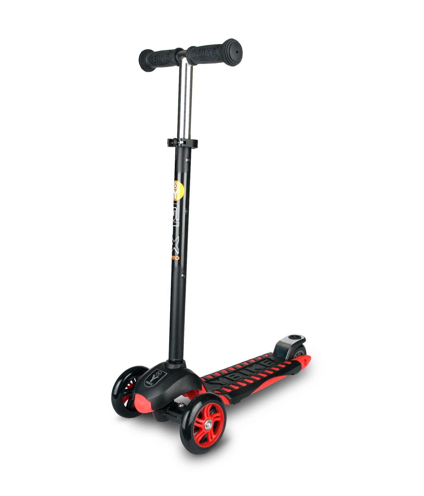 YBIKE GLX Pro Scooter, Black/Red, 12cm