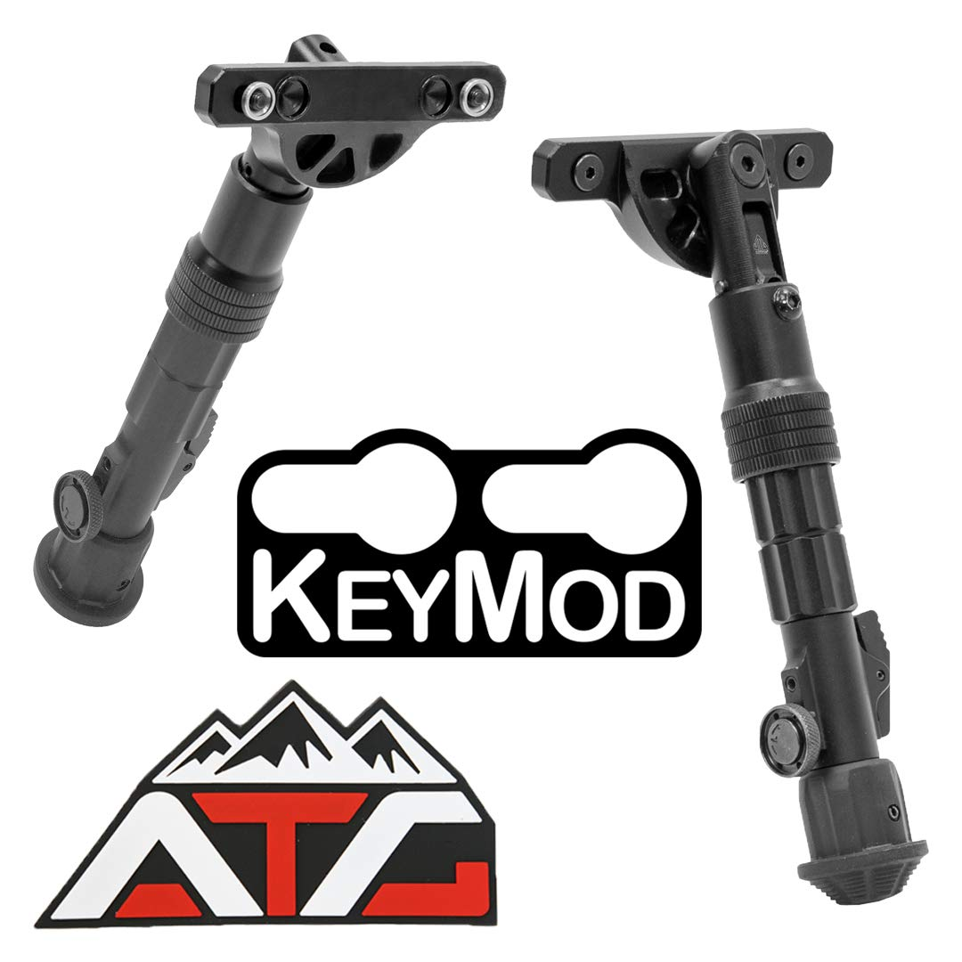 Patch and Leapers Recon Flex KeyMod Bipod Center Height 5.7'' - 8.0'' or 8.0'' - 11.8'' Aluminum by ATG