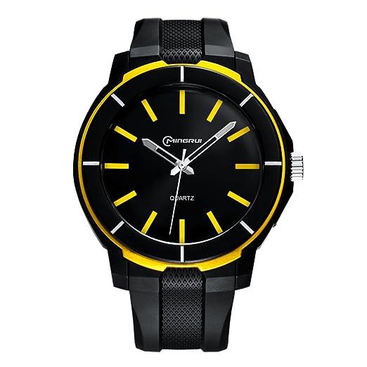Relojes Digitales para Hombre, Reloj de Cuarzo para Adolescentes, Resistente al Agua, Correa con Hebilla: Amazon.es: Relojes