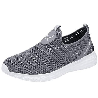 Hombres Zapatos Deportivos Casual Transpirable Low Top Zapatillas de Deporte Zapatillas de Deporte para Correr al Aire Libre Caminar