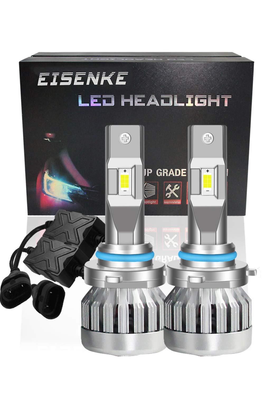 EISENKE high power 9005//9006 hb3 hb4 led headlight bulbs super bright automotive Lighting Conversion Kits high beam low beam 24000LM 6000K 130W Xenon white