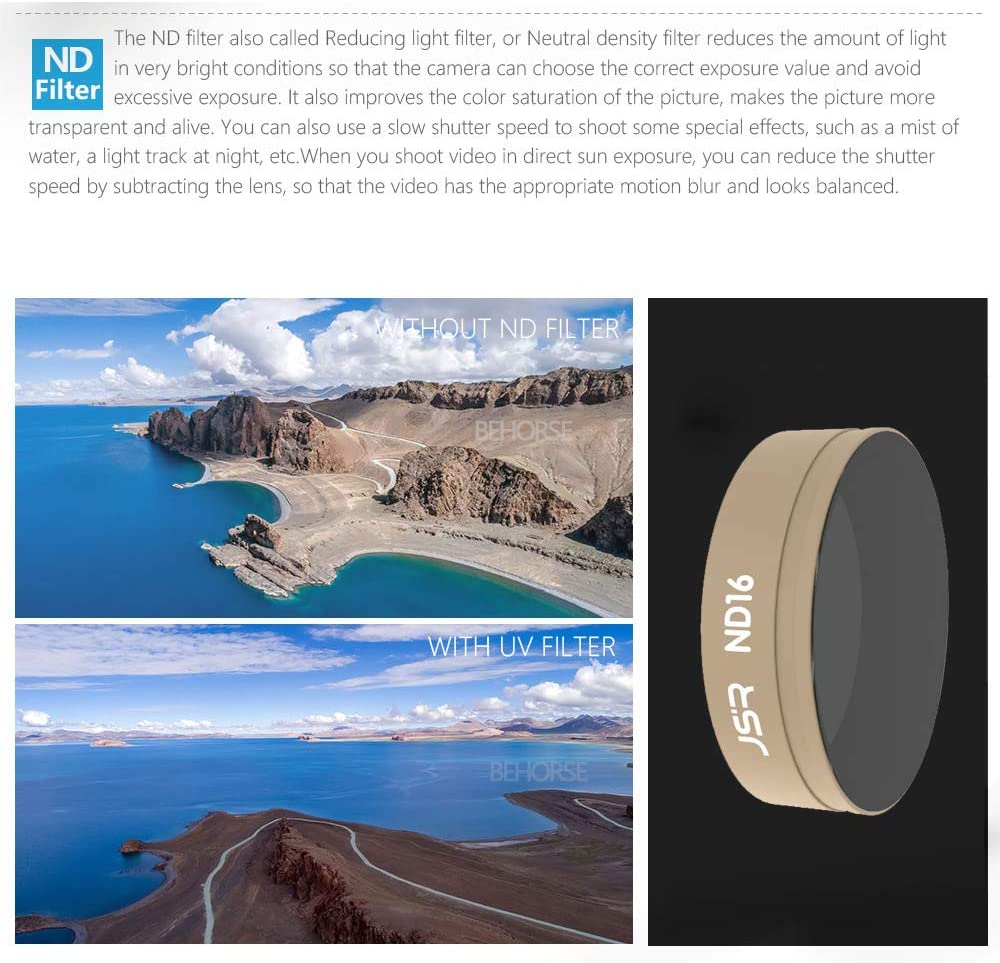 Alician for DJI OSMO Action Camera Lens Filter Sets CPL UV Star ND4//8//16//32 ND8//16//32//64-PL Camera Filter for DJI Action Camera Accessories 3-in-1 Filter Set