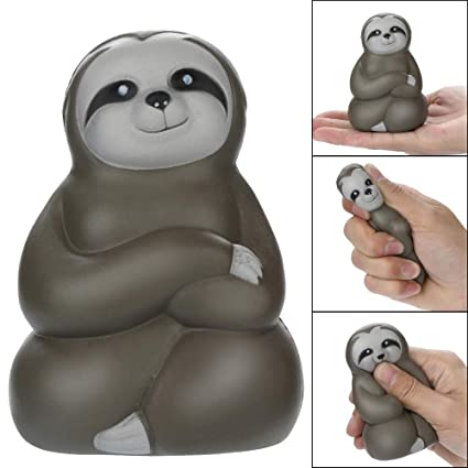 Exteren Adorable Squishies Soft Sloth Slow Rising Fruit Scented Stress Relief Toys Gifts (Brown)