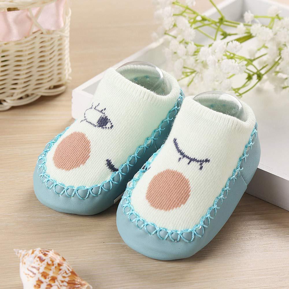 Onefa Newborn Baby Girls Christmas Socks Lace Bow Floor Anti-Slip Baby Step Socks