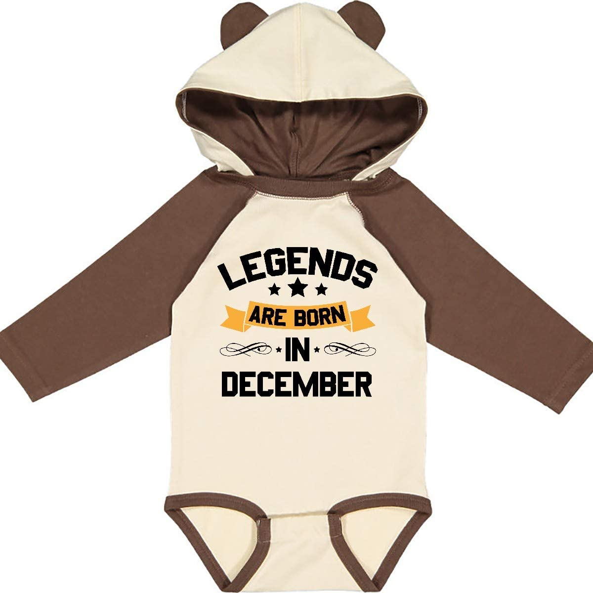 inktastic Legends are Born in December Long Sleeve Creeper