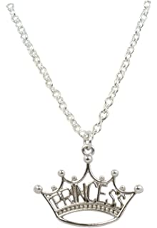Amazon princess crown pendant sterling silver necklace 16 princess pendant necklace aloadofball Image collections