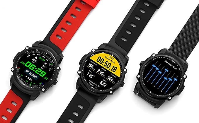 K&J Chipmunk FS08 - Reloj inteligente de pulsera con Bluetooth y ...