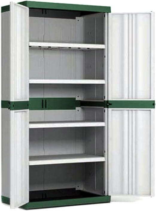 Armario de Resina con 4 estantes trastero resistente de gran 89 x 54 xh182cm MAXI 9586: Amazon.es: Hogar