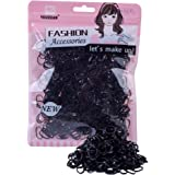Youxuan 1000-Pack Elastic Hair Ties Non-slip Rubber Hair Bands for Girls, Black