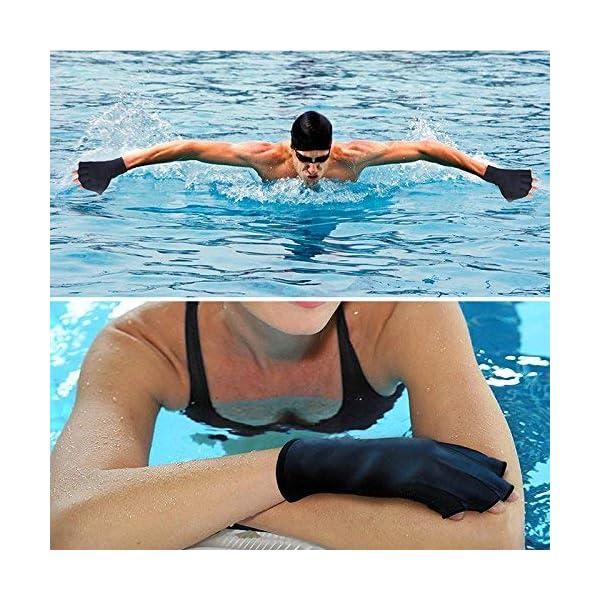Queenback 1 Coppia Nuoto Guanti Acquatica Fitness Resistenza All'Acqua Aqua Fit Racchettone Allenamento Guanti senza… 2 spesavip