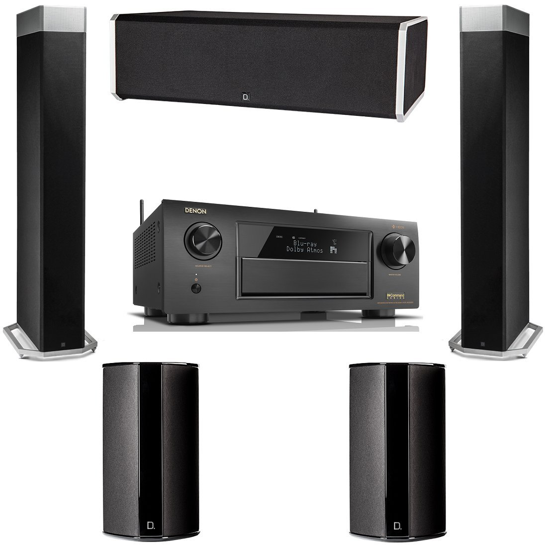 Definitive Technology BP9080X 5 Speaker System with Denon AVR-X6300H by Definitive Technology