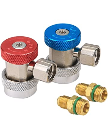GULUBO R134a Quick Coupler Adapter High Low Manifold Gas Connector A/C Air Condition R134A