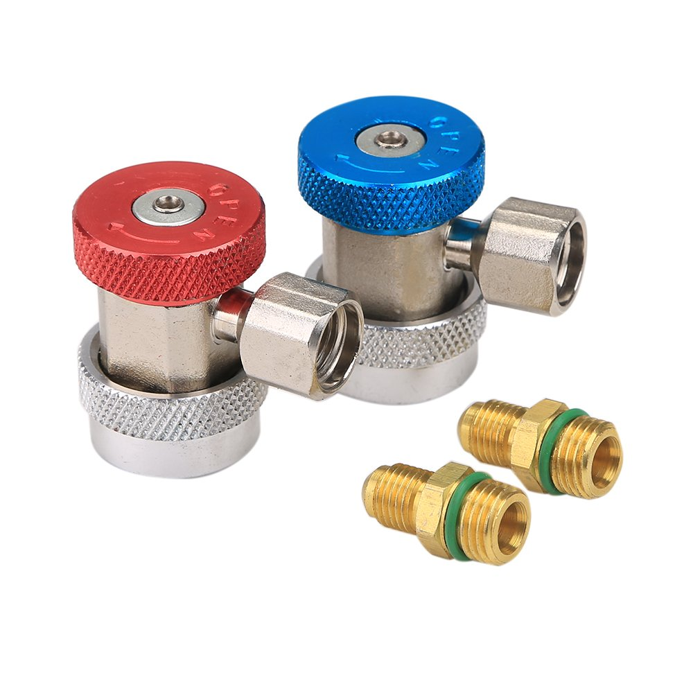 R134A A/C Air Condition Quick Coupler Adapter High Low Manifold Gas Connector