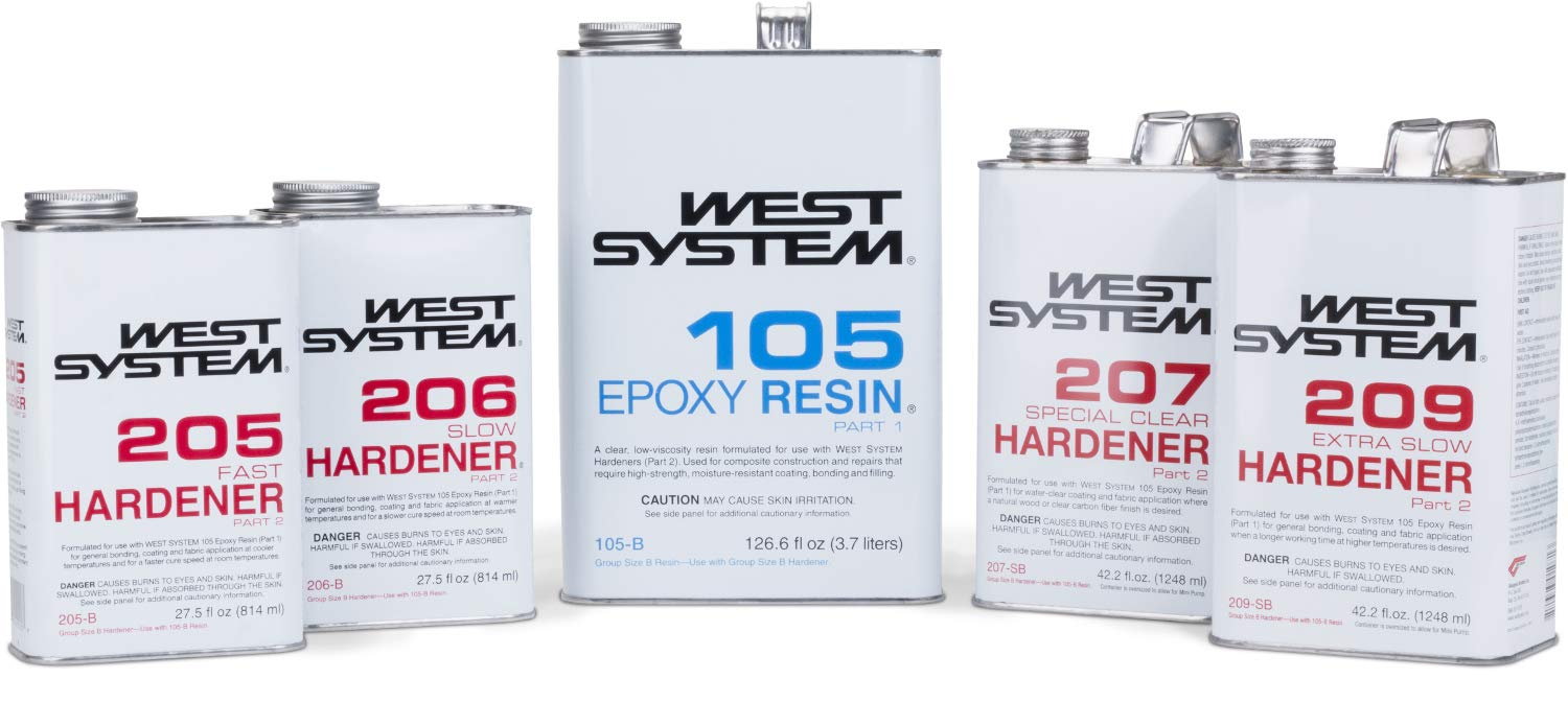 West System 105-B Epoxy Resin (.98 gal) with 206-B Slow Epoxy Hardener (.86 qt) and Epoxy Metering Pump Set by WEST SYSTEM (Image #8)