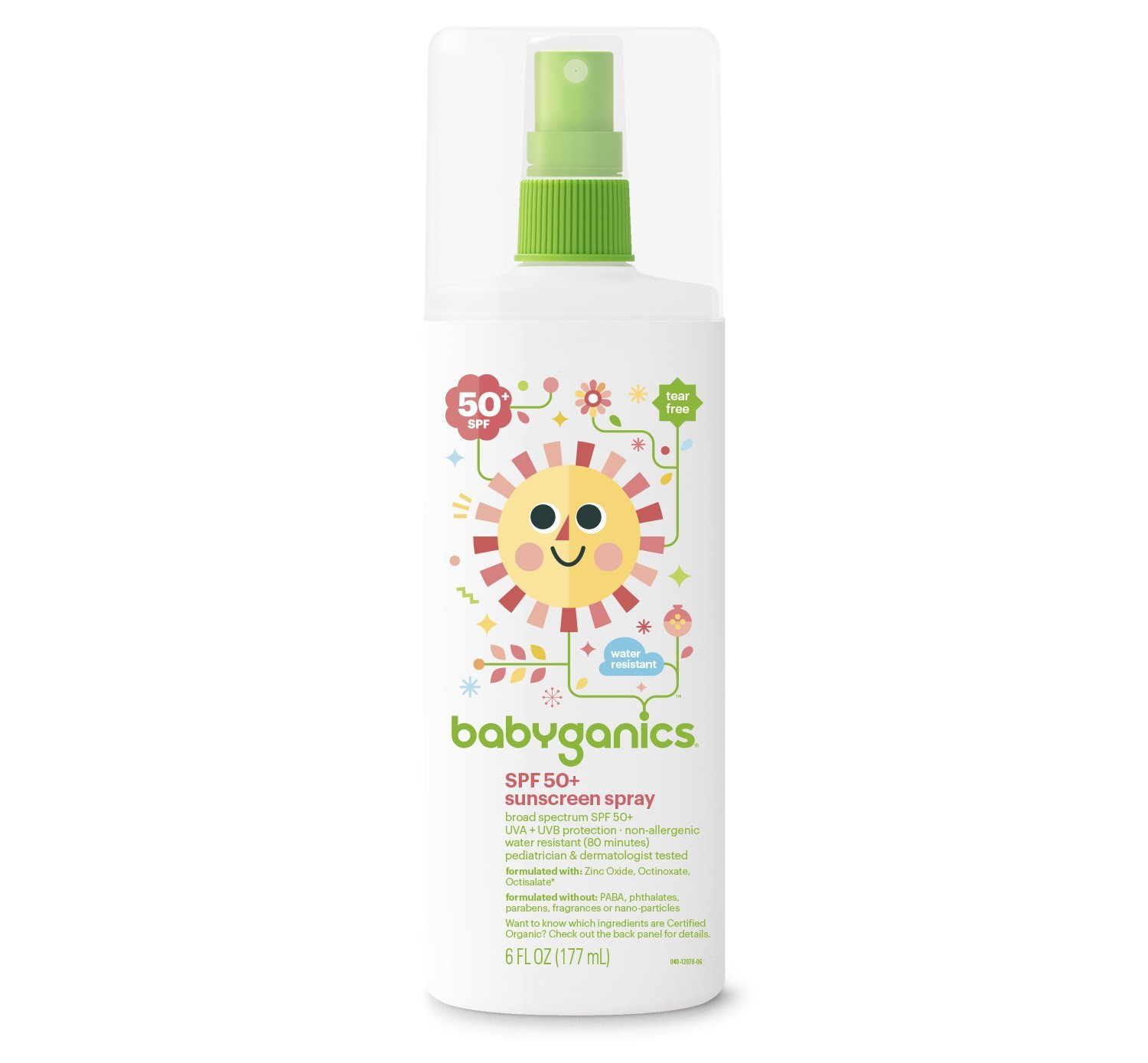 Babyganics SPF 50 Baby Sunscreen Spray