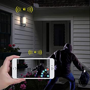 Amazon.com : FREECAM L910 Floodlight Security Camera Motion-Detected HD Wall-light security Cam Two-Way Talk with Siren Alarm Built-in Suspicious Intrusion ...