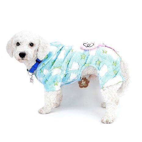 SELMAI Pequeño perro abrigo de terciopelo con capucha mono pijamas abrigos Elefante invierno mascota cachorro gato