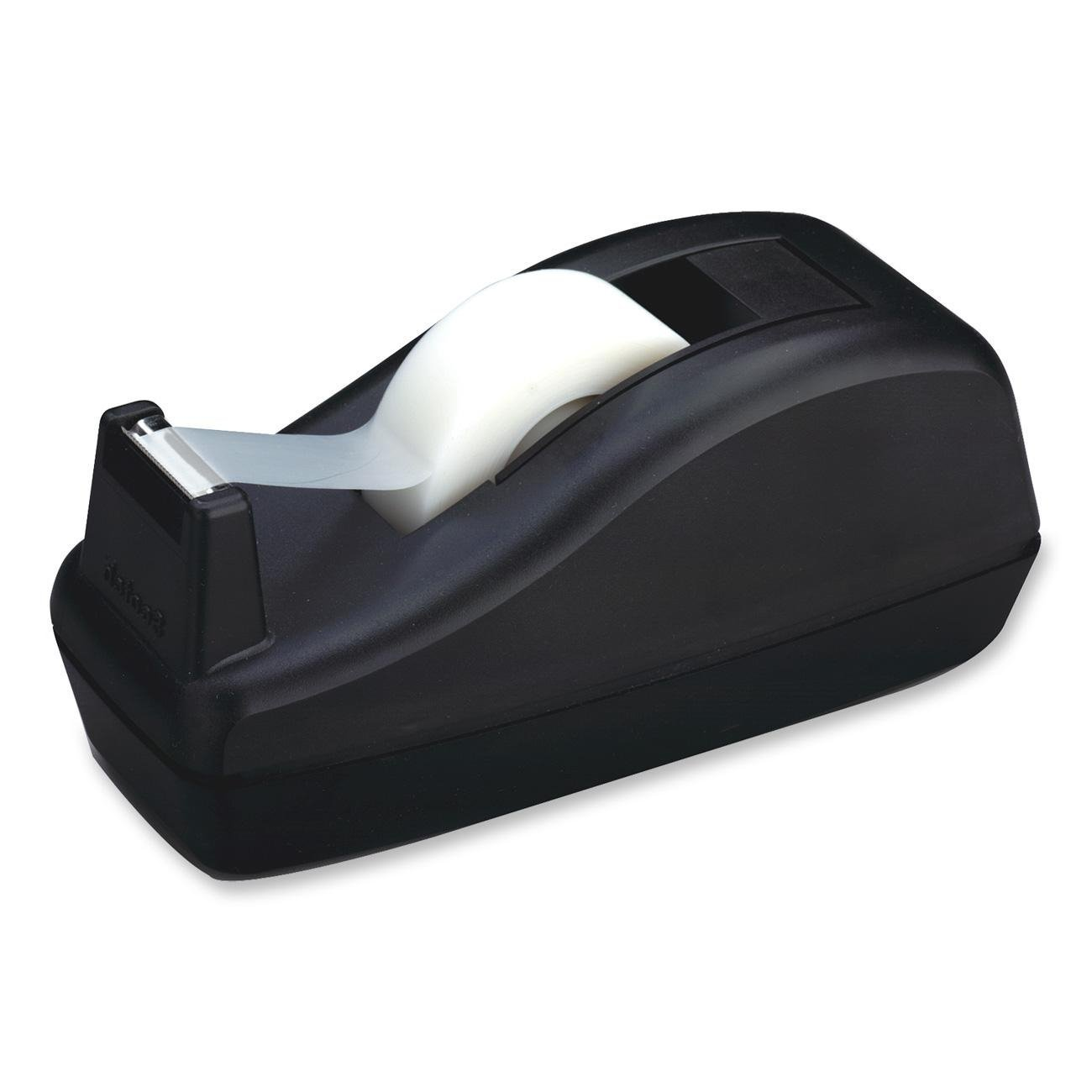 Scotch Deluxe Desktop Tape Dispenser, C-40, Black, for 1 Inch Core Tapes, 4 Dispensers