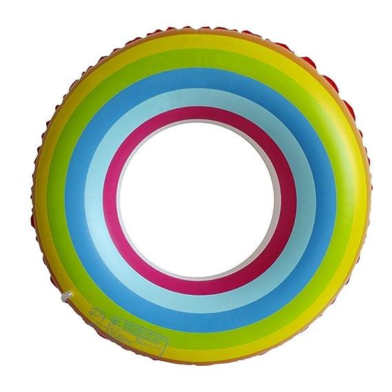 Ouneed Natación anillo piscina agua flotador juguetes inflables arco iris niños juguete: Amazon.es: Ropa y accesorios