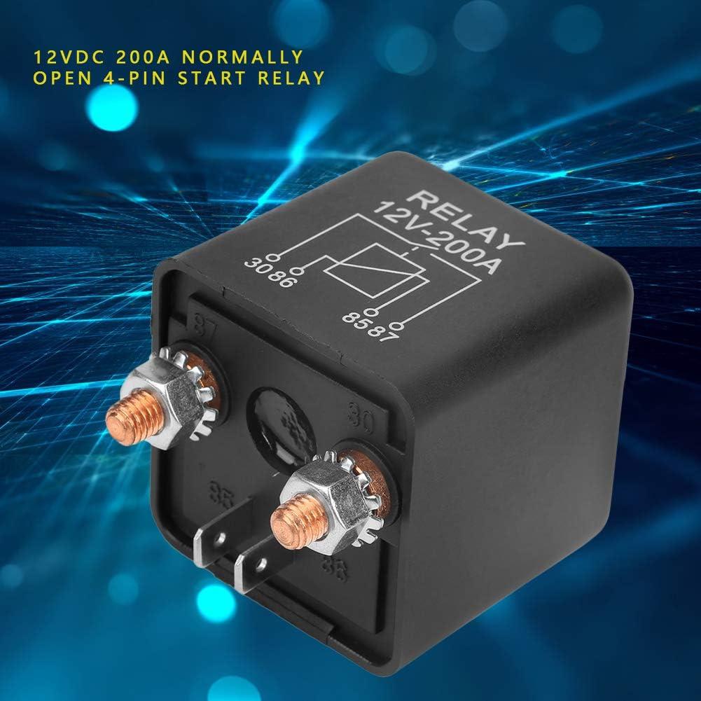 gute elektrische Leitf/ähigkeit und stabile Arbeitsleistung 100/% brandneues WM686 12V 4-poliges Startrelais Hochleistungs-Auto-EIN//AUS-Schalterrelais RL//180 200A