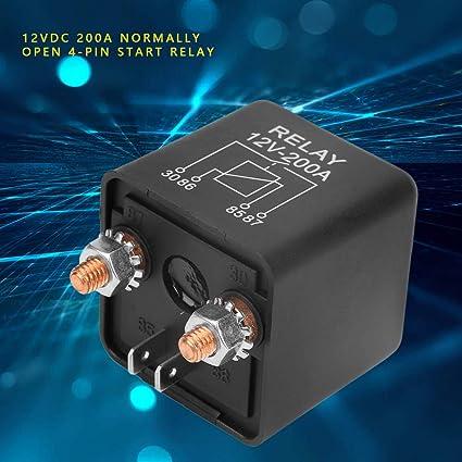 WM686 12VDC 200A 4-Pin ON//OFF Arrancador del Motor del Cami/ón de Coche Interruptor Autom/ático de Servicio Pesado para Bater/ía de Control