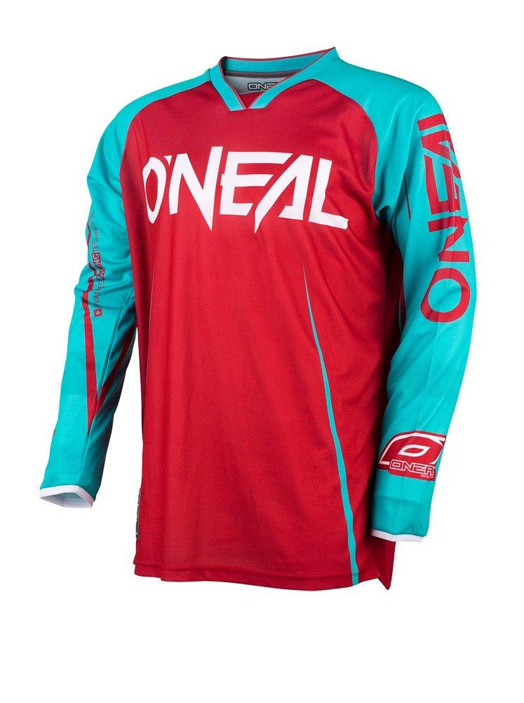 0030/a 30 O Neal Mayhem Lite Jersey Blocker Rosso Blu MX MTB DH Maglia Motocross Offroad