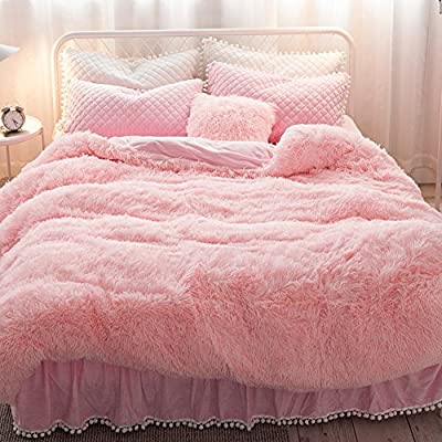 DACHUI Cotton bed sheets - 1800 beds fade, stain resistant - Hypoallergenic - 4 units (Princess Wind) - A Queen 1.
