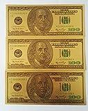 50pcs Old Version USD$100 Gold Foil Golden USD Paper Money Banknotes Crafts