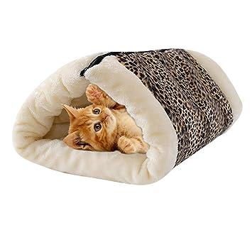 CJOY 2 en 1 Túnel para Mascotas, Tubo Gato Estera Cama Cojín Cueva Suave Cachorro Comfy Cachorro de Felpa Caliente Perro Accesorios para Mascotas: ...