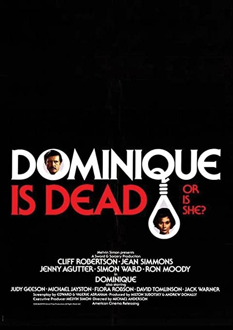 Dominique Is Dead: Amazon.es: Cliff Robertson, Jean Simmons ...