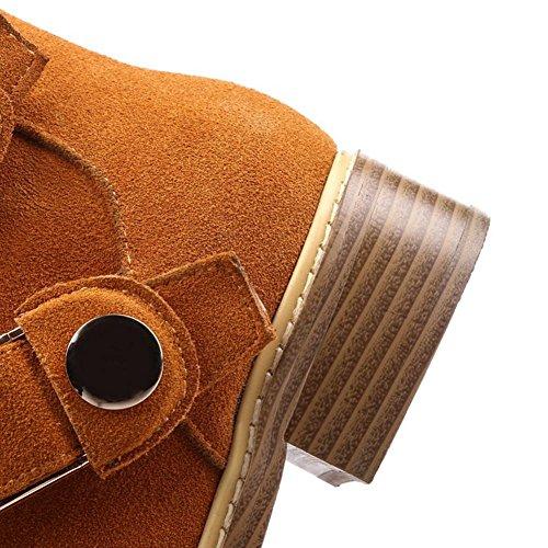 mujeres resistencia cinturón de H de blanda hebilla botas estaciones las antideslizante la de 40 cuero XIAOGANG negro de yellow al cortas desgaste amarillo goma HCuatro superficie w086dqxw1