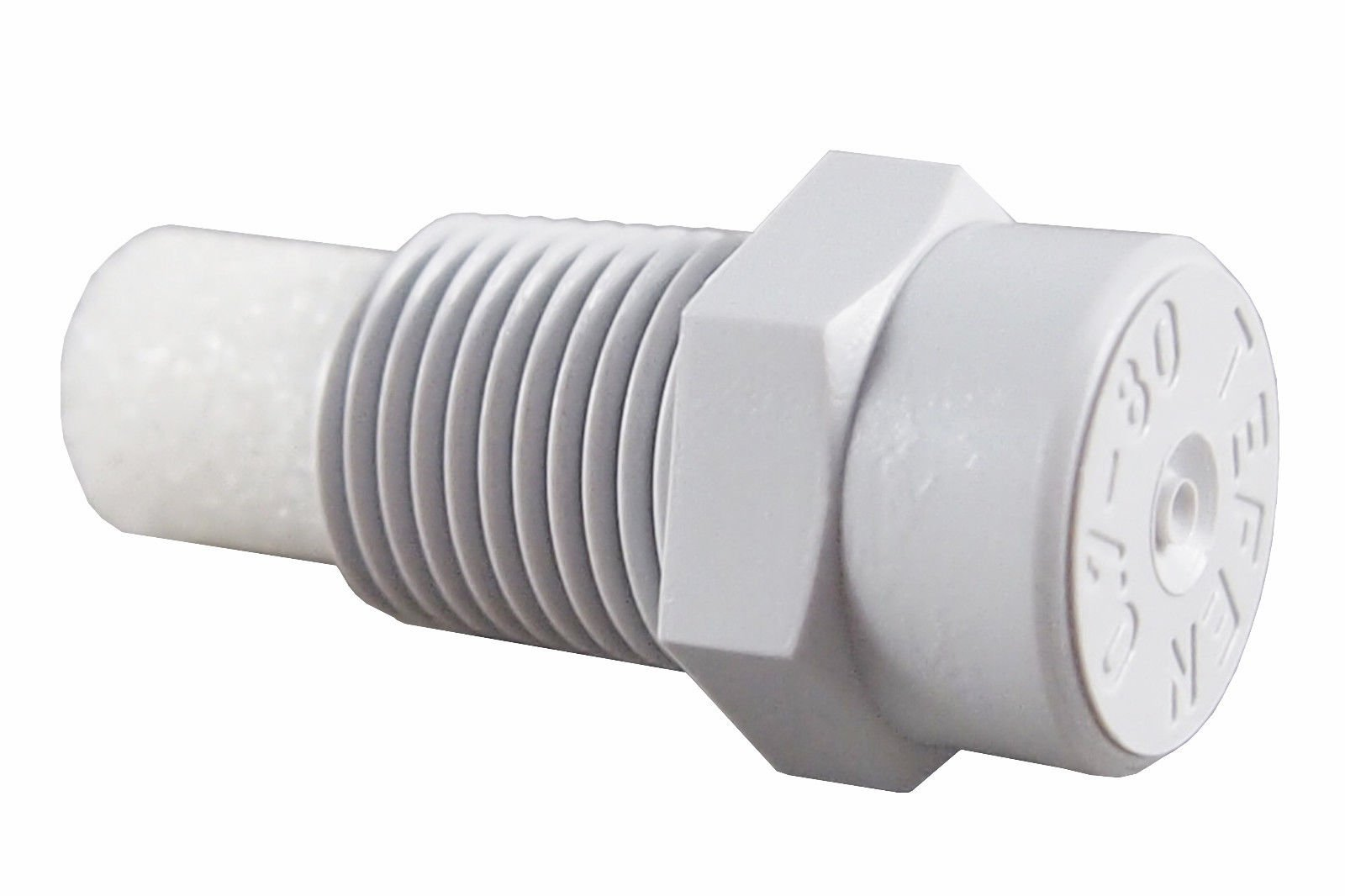 100 Pack) Plastic Fog Nozzle W/Poly Filter Misting Poultry Grey 1/8'' NPT 1 GPH (5N0780GR)