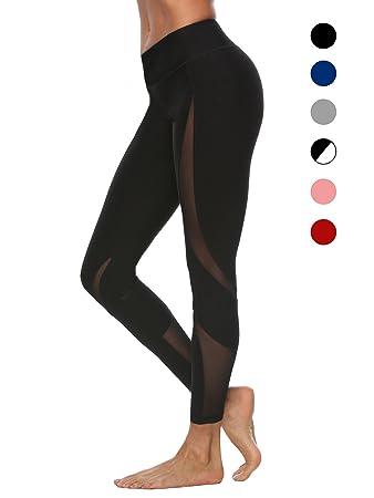 Bauchkontrolle dh Garment Sport Leggings Damen hohe Taille Yoga Hose mit Bundtasche