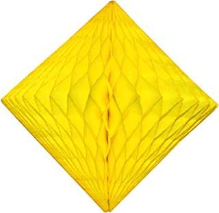 product image for 3-Pack 12 Inch Yellow Honeycomb Diamond Decoration