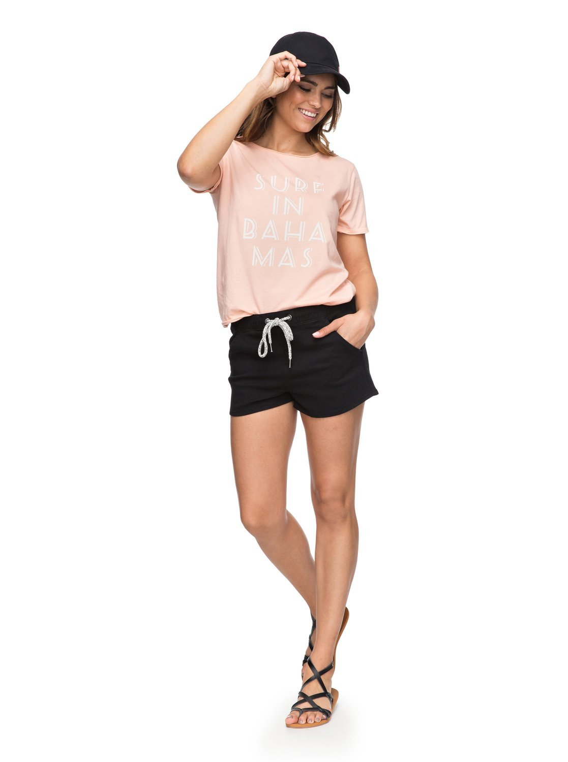 Roxy Womens Music Never Stop Color - Beach Shorts - Women - XL - Black Anthracite XL