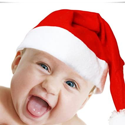 a675d45f0087c ILOVEDIY Bonnet de Pere Noel Unisex Enfant Chapeau de Noel Fille Garcon Bebe  (1