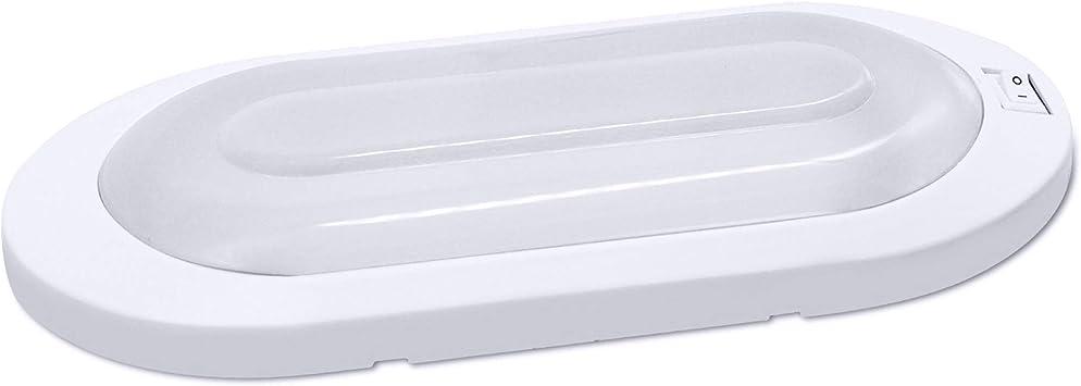 12 Volt LED Deckenleuchte warmwei/ß Wohnwagen Wohnmobil Caravan Boot wei/ß Rechteck